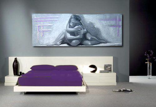Cuadros modernos desnudos pintura figurativa moderna pintada a ...