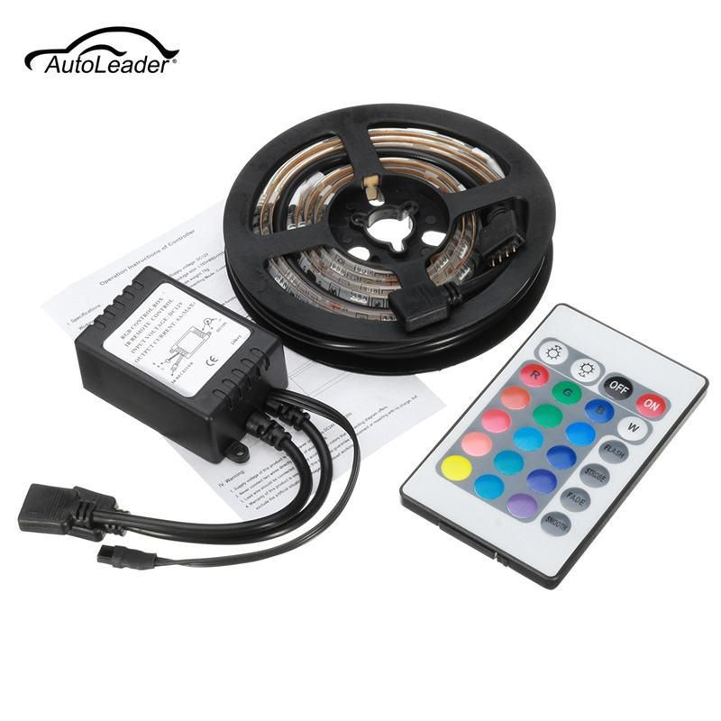 Usb Powered Remote Control 2pcs 50cm Rgb Colour 5050 Led Strip Computer Tv Car Usb Backlight Light 19 99 Car Usb Tv Cars Car Lights