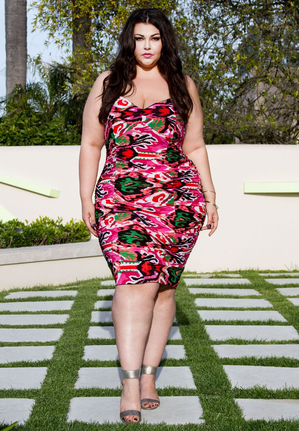 Tamara Ruched Dress In Multi Plus Size Special Occasion