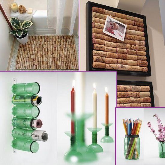 Locos por el reciclaje ideas para craft and manualidades - Decoracion con reciclaje ...