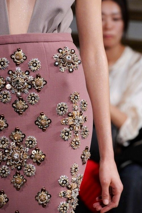 MIU- this beading and hard work is not nearly appreciated enough, this skirt is a piece of art.