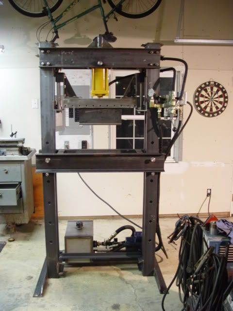 Home Shop Press Project Picture Heavy Shop Press Metal Working Projects Metal Working Tools