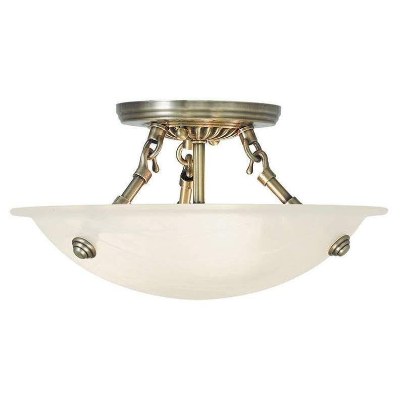Livex Lighting 4272 Oasis 3 Light Semi-Flush Ceiling Fixture