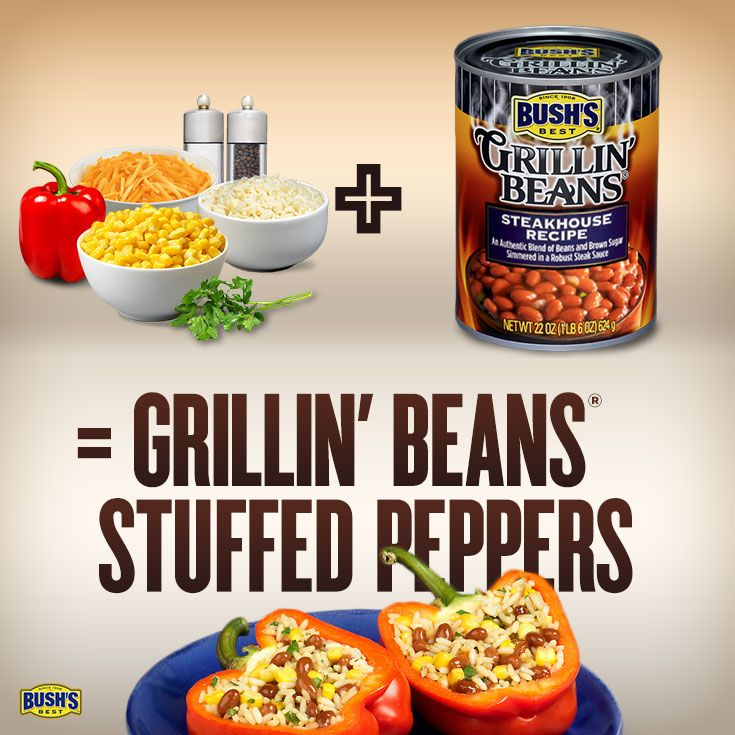 Love this BUSH'S Beans recipe--can't wait to make Grillin' Beans® Stuffed Peppers tonight!