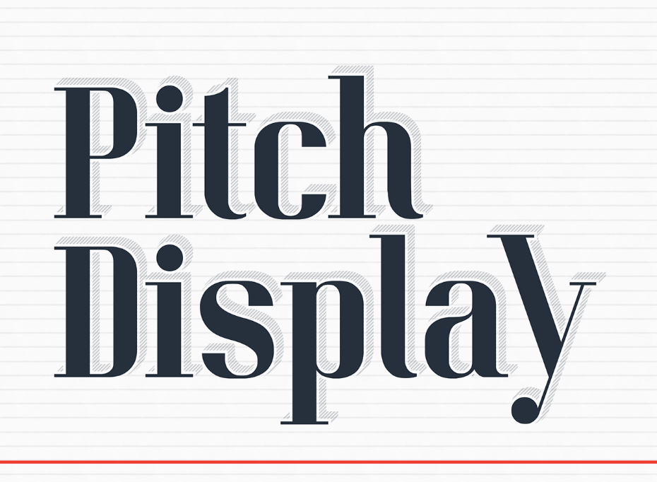 Pitch Display Free Typeface | Typography | Free typeface, Best free