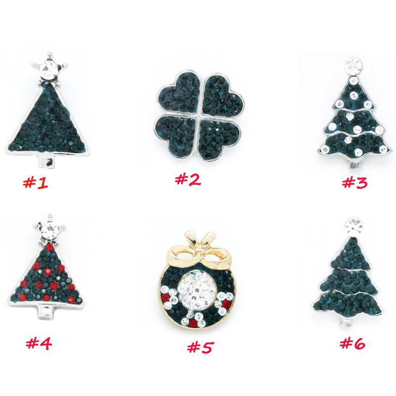 6pcs/set Random Mix Designs Christmas DIY Jewelry Charm Green