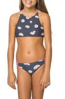 61e1a985d82 Free shipping and returns on Billabong Two-Piece Ruffle Swimsuit (Little  Girls & Big Girls) at Nordstrom.com. Bright mixed patterns and playful  ruffles ...