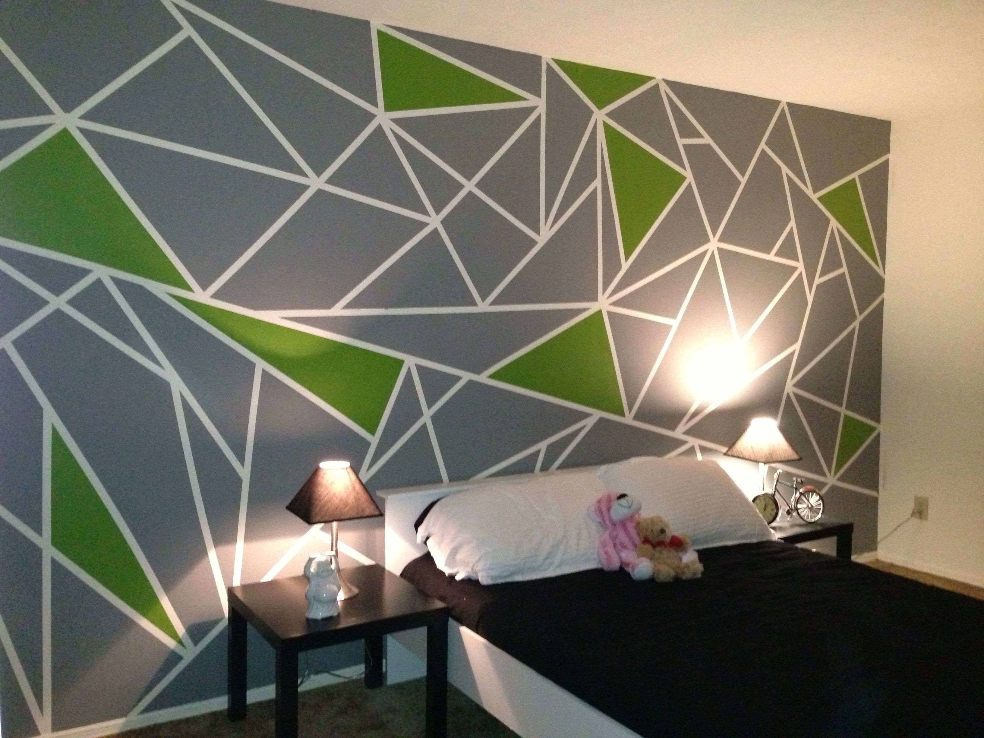 triangle accent wall home decor triangle for the