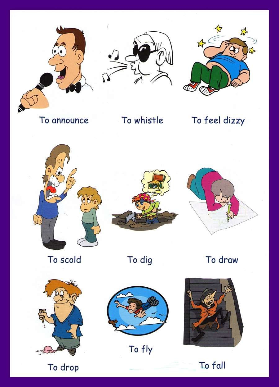 Action Words (verbs) | FirstGradeFaculty.com | Action ...
