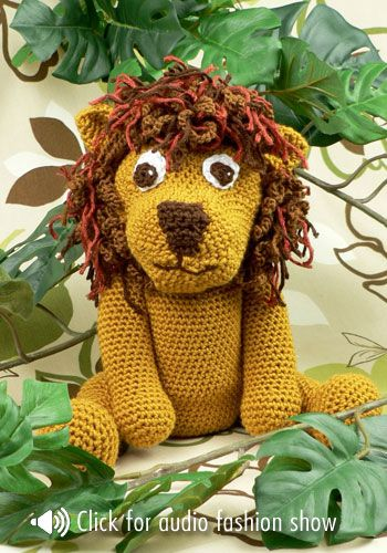 Laurence the Lion Free Amigurumi Pattern (With images) | Crochet ... | 500x350