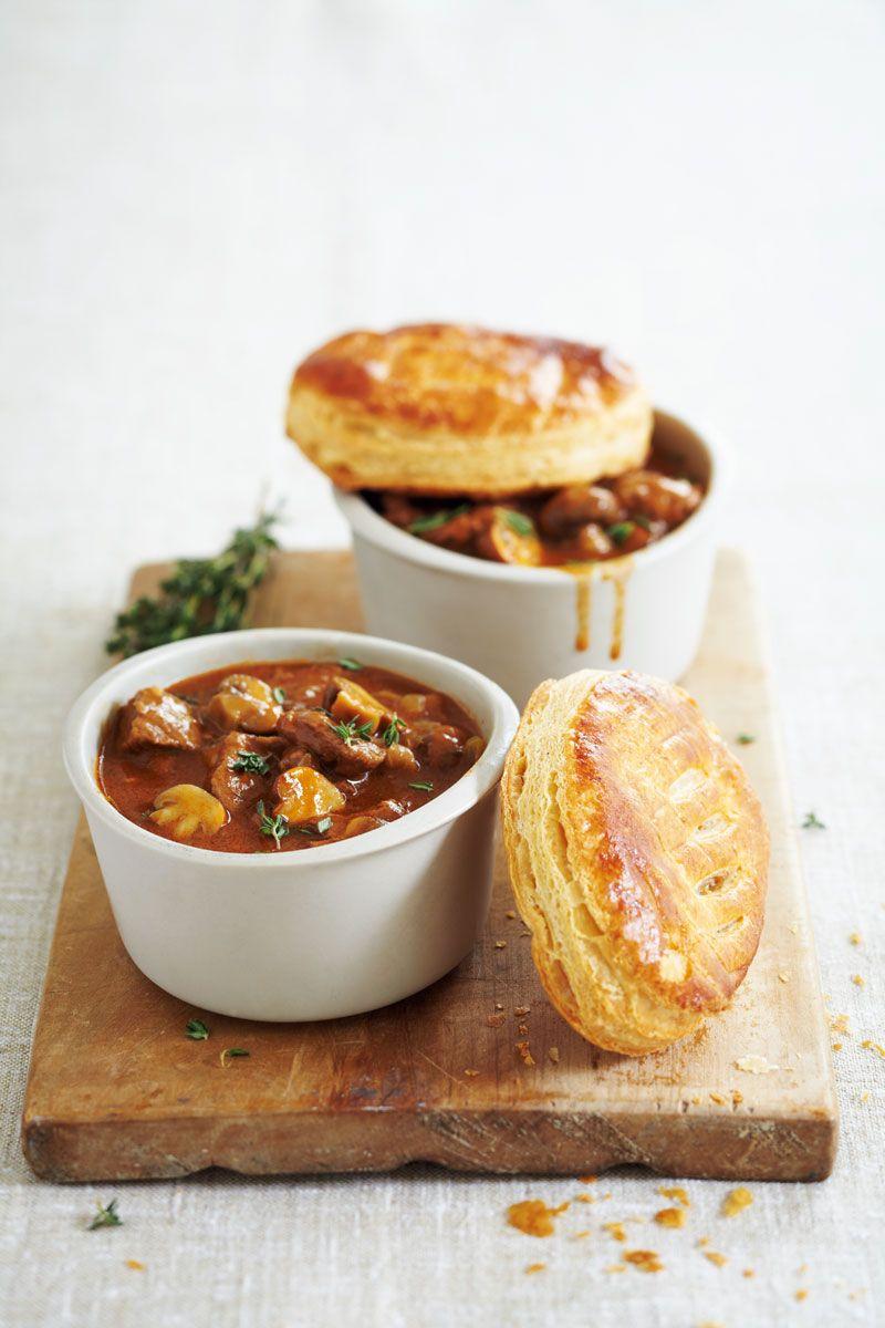 Beef stew & puff pastry | Steak and mushroom pie