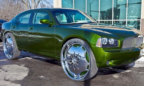Dodge Charger Riding On 30 Inch Rims Cool Or Crazy Donk Cars Dodge Charger Cool Cars
