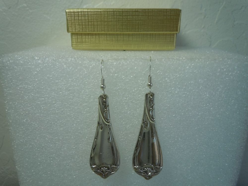 Reed & Barton Modern Art 1904 Earrings Silverplate  #ReedBarton #DropDangle