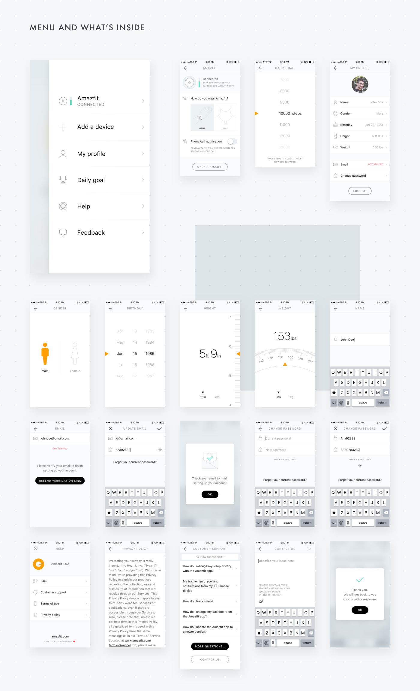 Amazfit App V1 0 On Behance