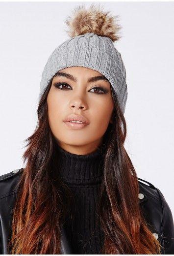 02f127efe42 Missguided - Elyssa Pom Pom Beanie Hat.