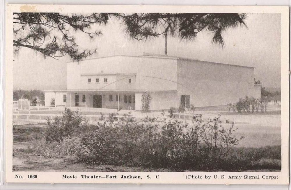 Movies In Columbia Sc >> Fort Jackson Us Army Base Postcard Movie Theater Columbia
