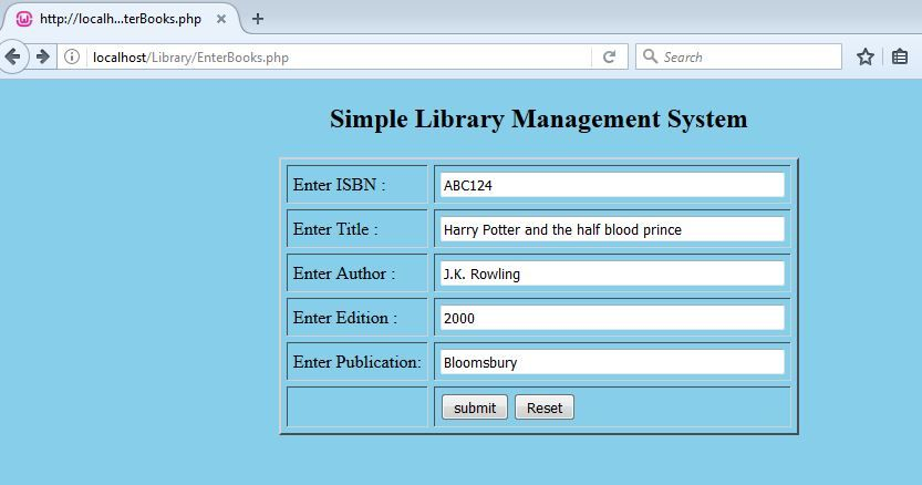 Simple Library Management System in PHP using MySQL | php