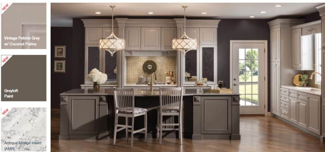 Gray Painted Kitchen Cabinets | ... With Warm Floors And Gold Accents »  Grey_Kitchen_Cabinets_Trend_Photo