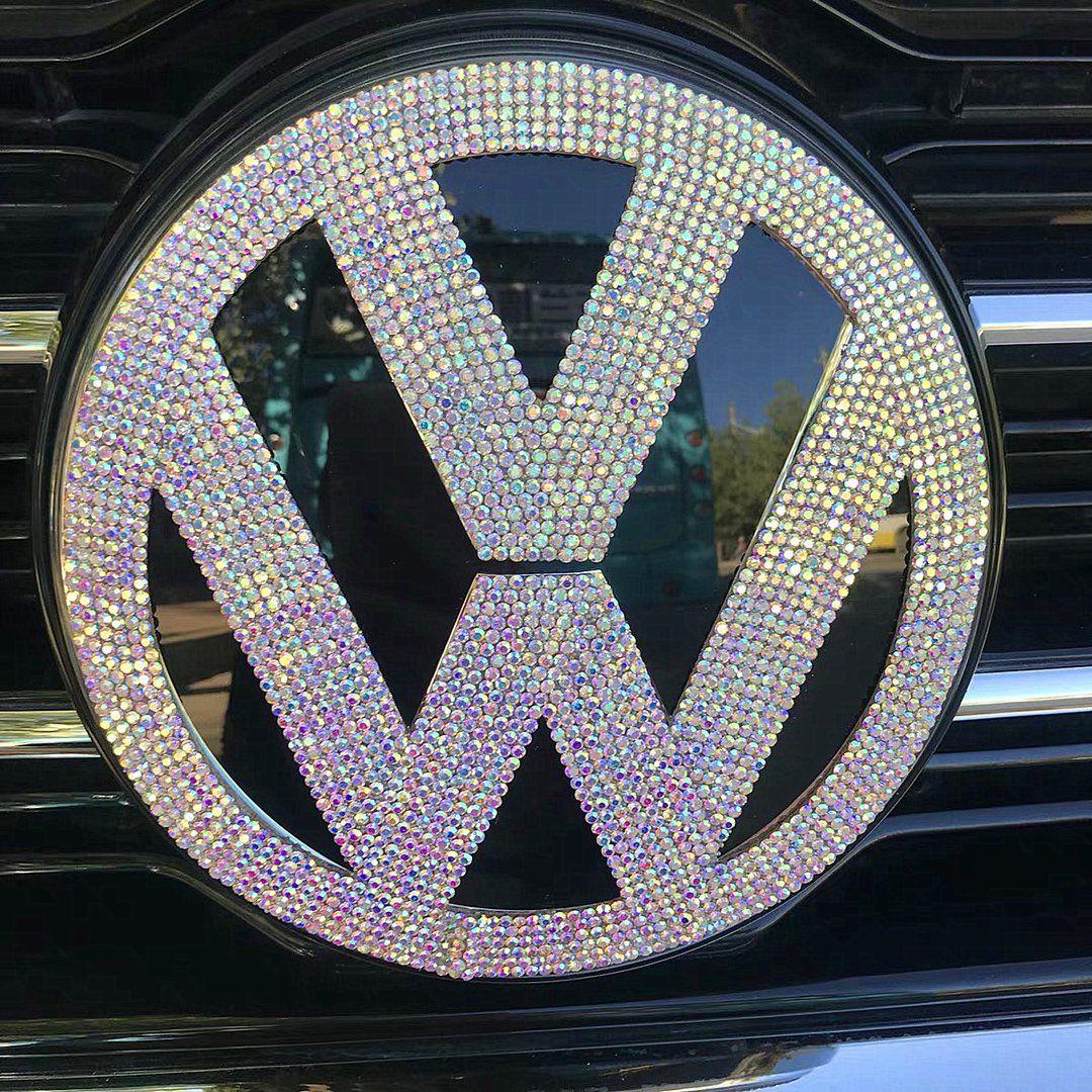 Vw Volkswagen Bling Logo Front Or Rear Grille Emblem Made W Rhinestone Crystals Volkswagen Vw Volkswagen Vw Emblem [ 1080 x 1080 Pixel ]