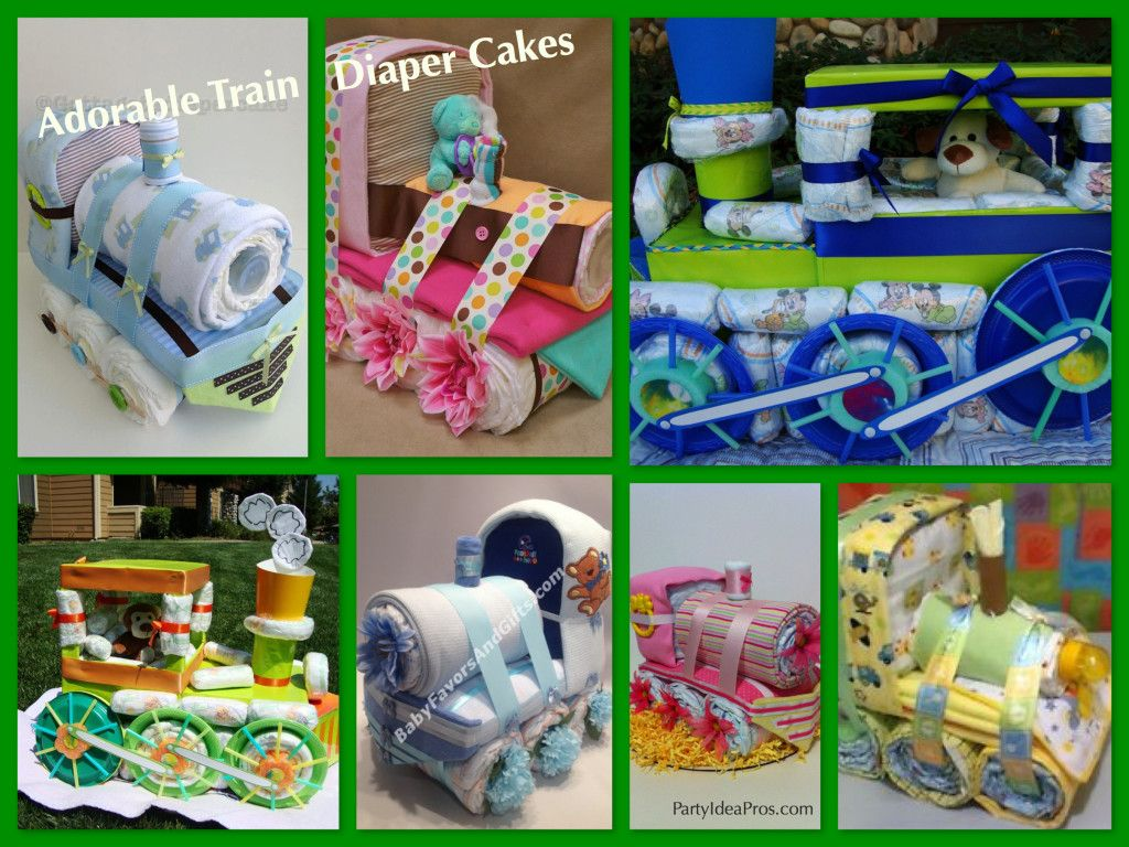 Choo Choo Train Diaper Cakes The Perfect Train Theme Baby Shower