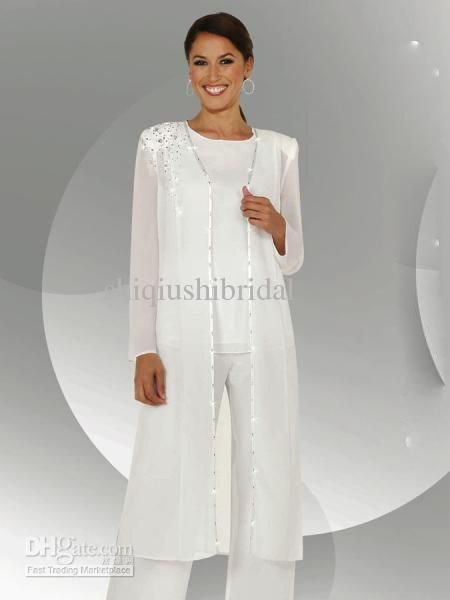 Wholesale mother of the bride pant suits Dresses with jacket ...