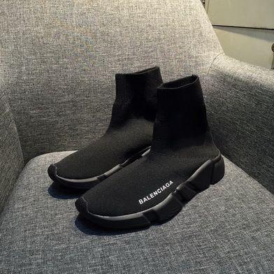 dcf45dcc97 Balenciaga Speed Knit Authentic Trainers Triple Black brand shoes on sale  Shoe