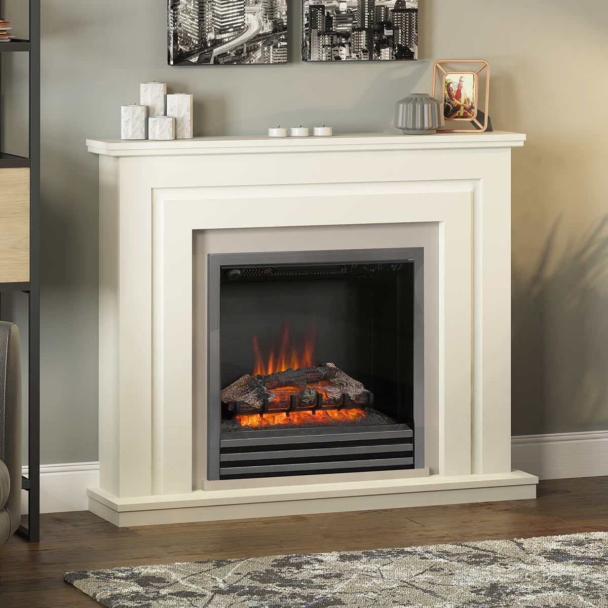 Be Modern Whitham Electric Fireplace Suite, 2kW (With ...