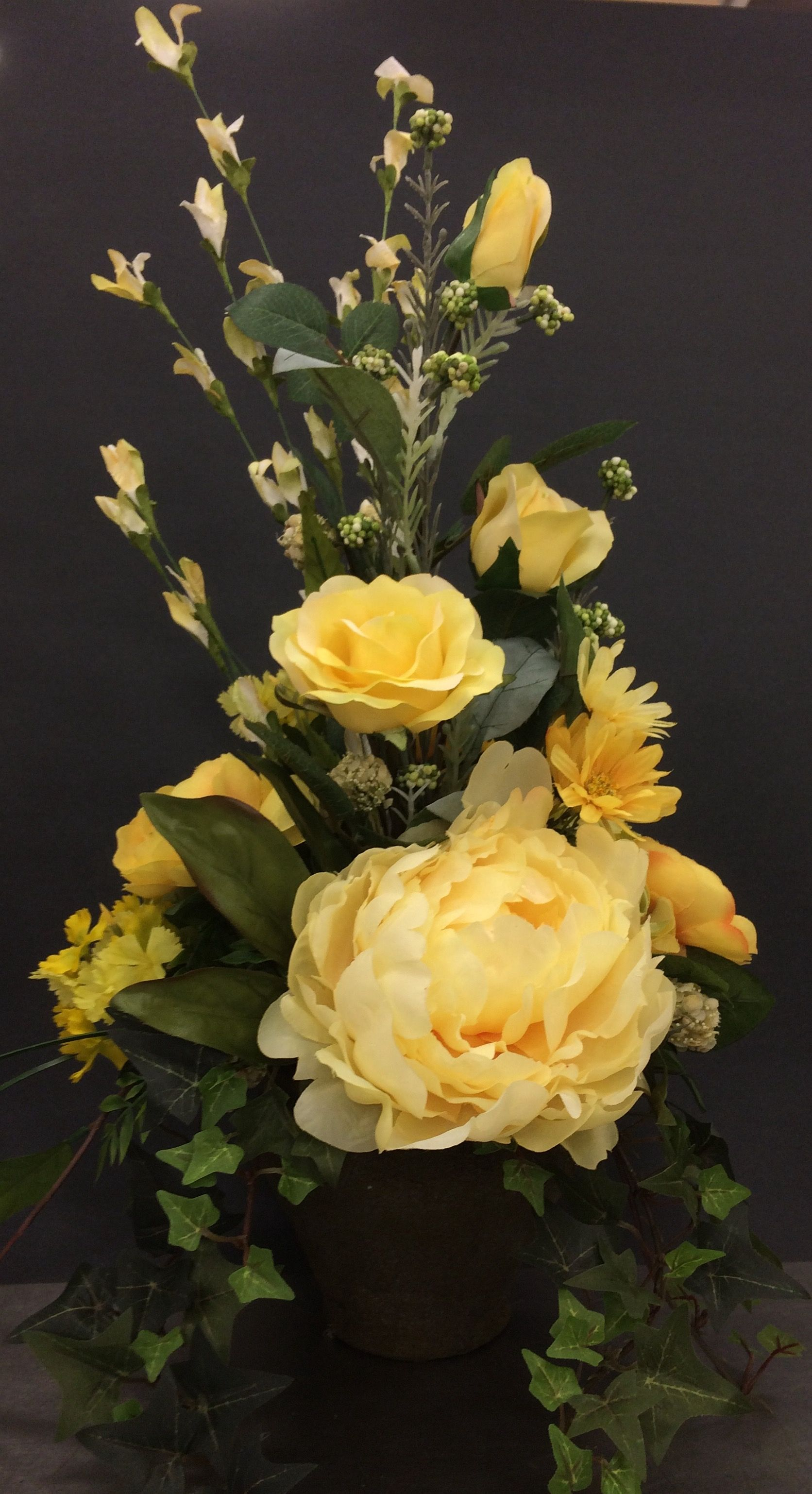 Yellow rose and peony classic by andrea michaels custom floral yellow rose and peony classic by andrea michaels custom floral pinterest peony rose and flower arrangements mightylinksfo