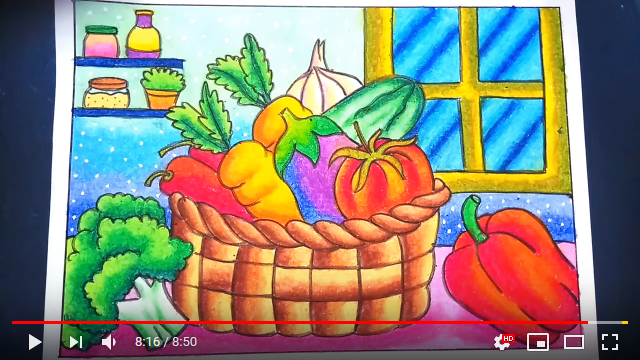 Screenshot 326 Menggambar Dan Mewarnai Sayuran Dalam Keranjang Dengan Gradasi Crayon How To Draw Vegetable Basket Youtu Buku Gambar Warna Gambar Simpel