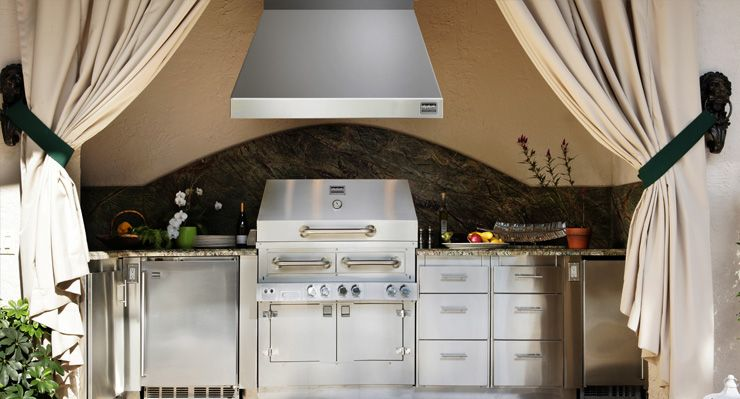 Outdoor Kitchen Vent Hoods By Kalamazoo Outdoor Gourmet With Images Outdoor Kitchen Outdoor Kitchen Appliances Kitchen Vent