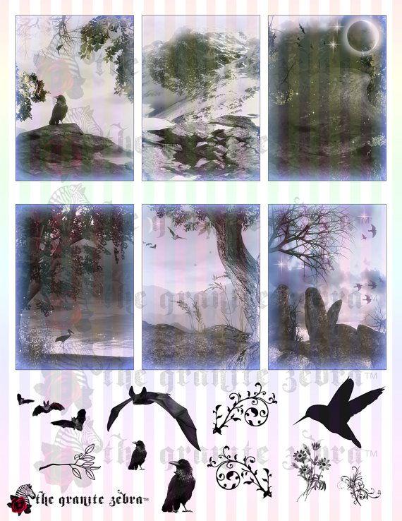 Fantasy Nights Gothic ACEO Background Stock by TheGraniteZebra
