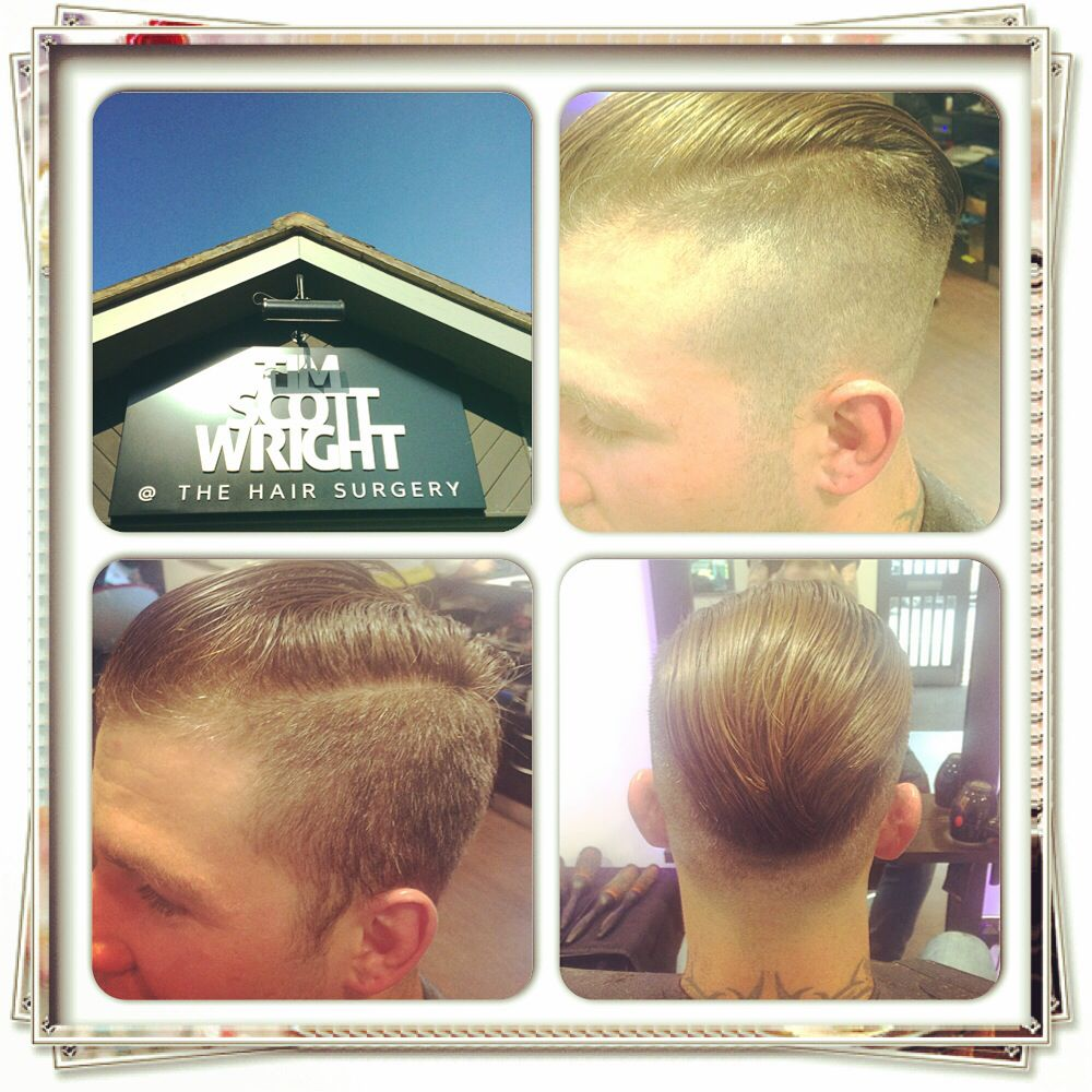 New work . Think lawless think 20's inspired slick back .. High fades and gel.