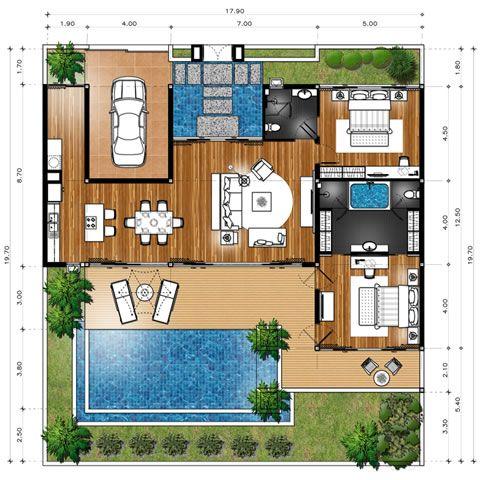 Khaolak Tropical Villas Baan Sai Roong Design De Casa Moderno Planos De Casa Modernas Plantas De Casas Dos Sonhos