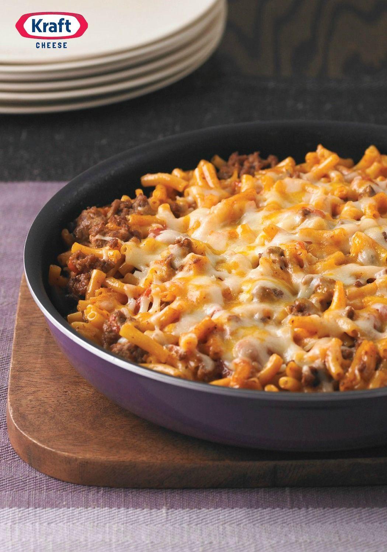 Cheesy Macaroni Beef Skillet Recipe Cheesy Macaroni Dinner Time Recipes
