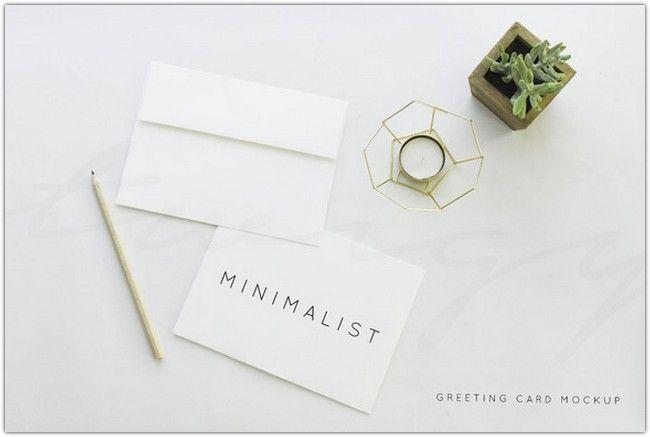 Greeting Card Mockup Minimalist  Graphic Design  Extras