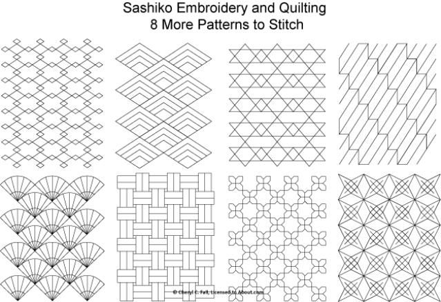 Beginners Guide To Sashiko Japanese Embroidery Pinterest