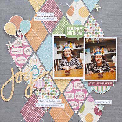 Joy Layout by Katie Rose via Jillibean Soup Blog