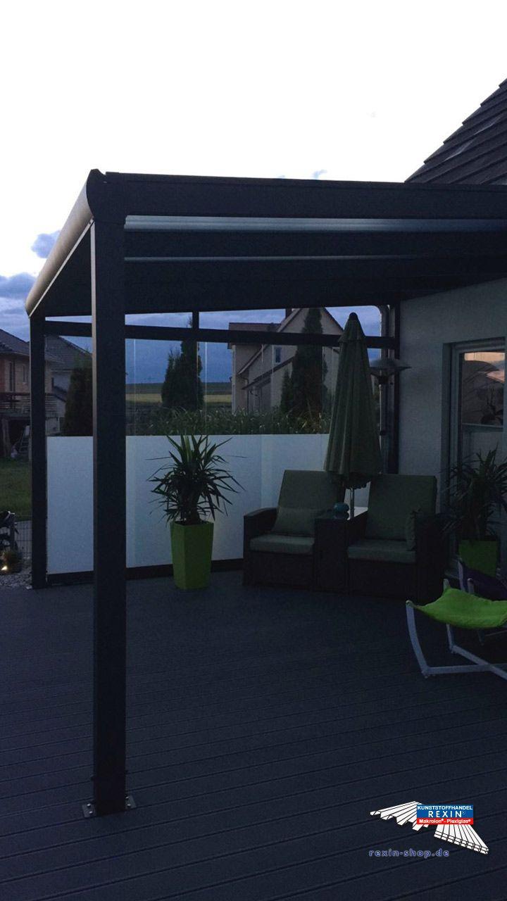 Ein Alu Terrassendach Der Marke Rexopremium 4m X 3 5m Anthrazit
