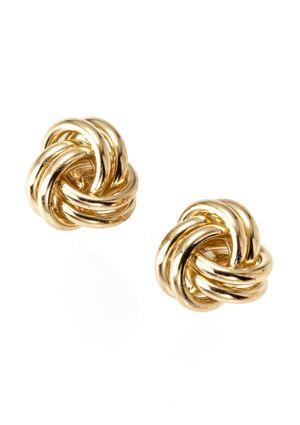 Candela 14k Yellow Gold Knot Earrings