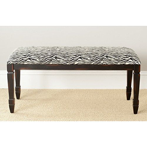 Bathroom Rugs Ideas | Safavieh American Home Collection Tasvo Brown Zebra Upholstered Bench >>> You can find out more details at the link of the image. Note:It is Affiliate Link to Amazon. #LuxuryandHighQualityBathroomRugs