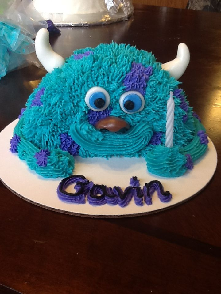 Tremendous Monsters Inc Sully Smash Cake For 1St Bday With Images Sully Funny Birthday Cards Online Kookostrdamsfinfo