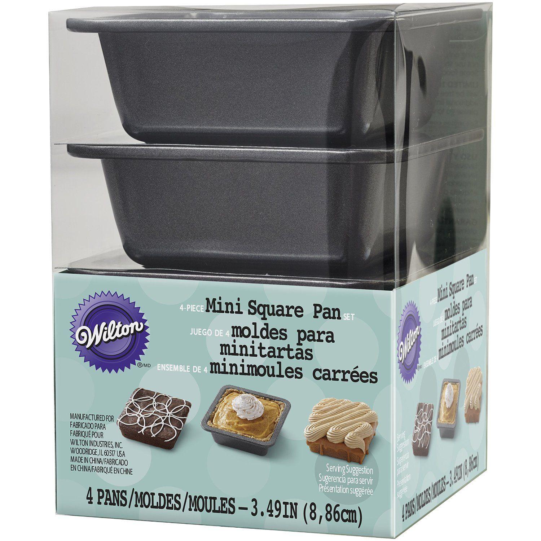 Wilton 21054637 square pie pan set mini check this