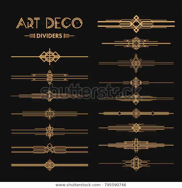 Set Art Deco Dividers Headers Creative Stock Vector Royalty Free 795590746 Artdecointerior Set Art Art Deco Design Graphics Art Deco Borders Art Deco Tattoo