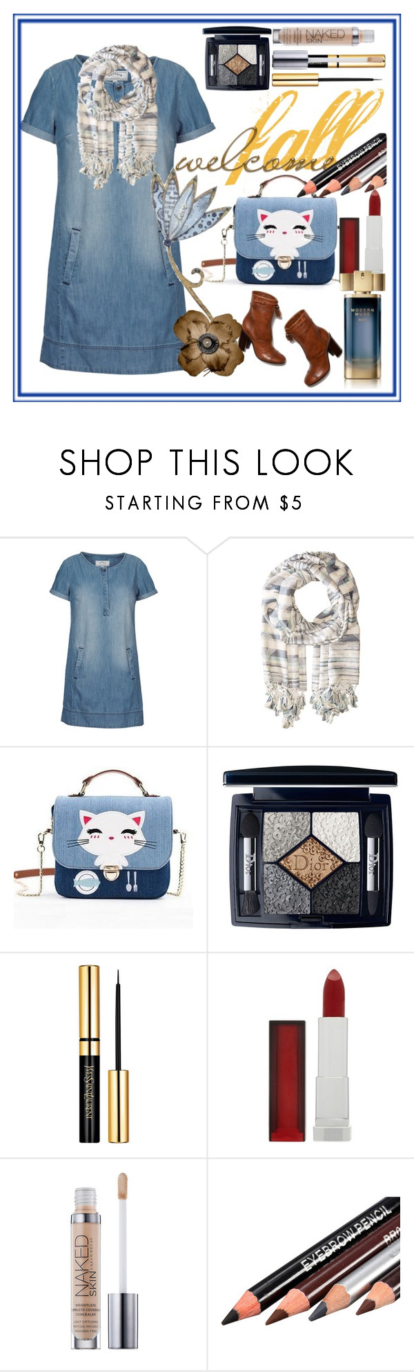"""Welcome Fall"" by bren-johnson ❤ liked on Polyvore featuring Fat Face, Tory Burch, Michael Stars, Christian Dior, Maybelline and Estée Lauder"