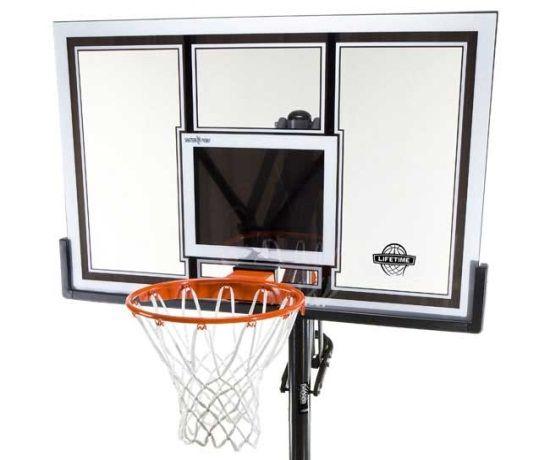 Lifetime Portable Basketball Hoop 71524 54 Inch Polycarbonate Backboard Goal Portable Basketball Hoop Basketball Systems Basketball Hoop