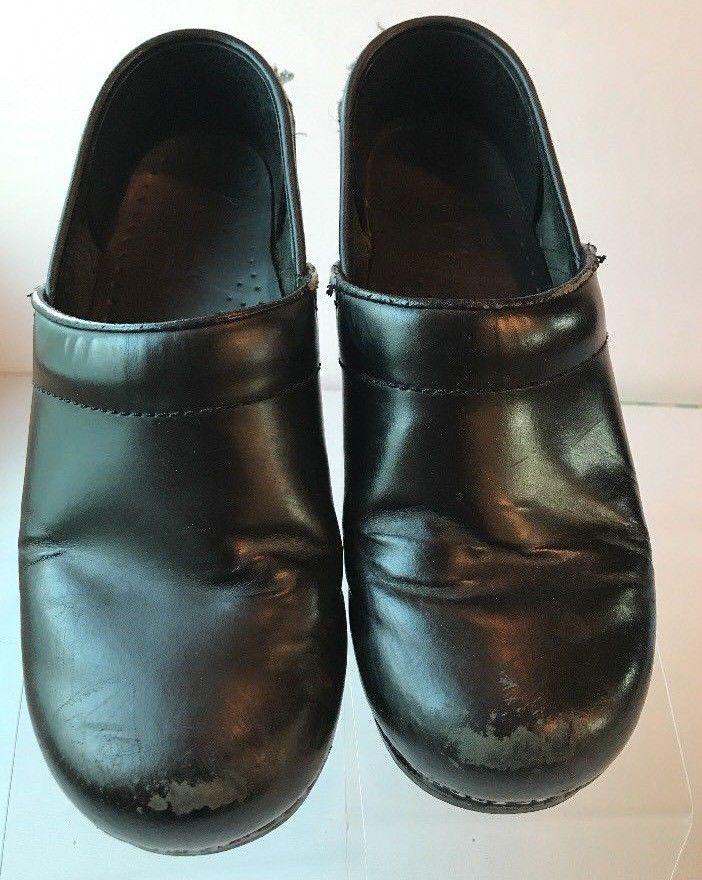 Dansko Professional Red Leather Slip On Clogs Mules Size Women's EU 37 US 6.5