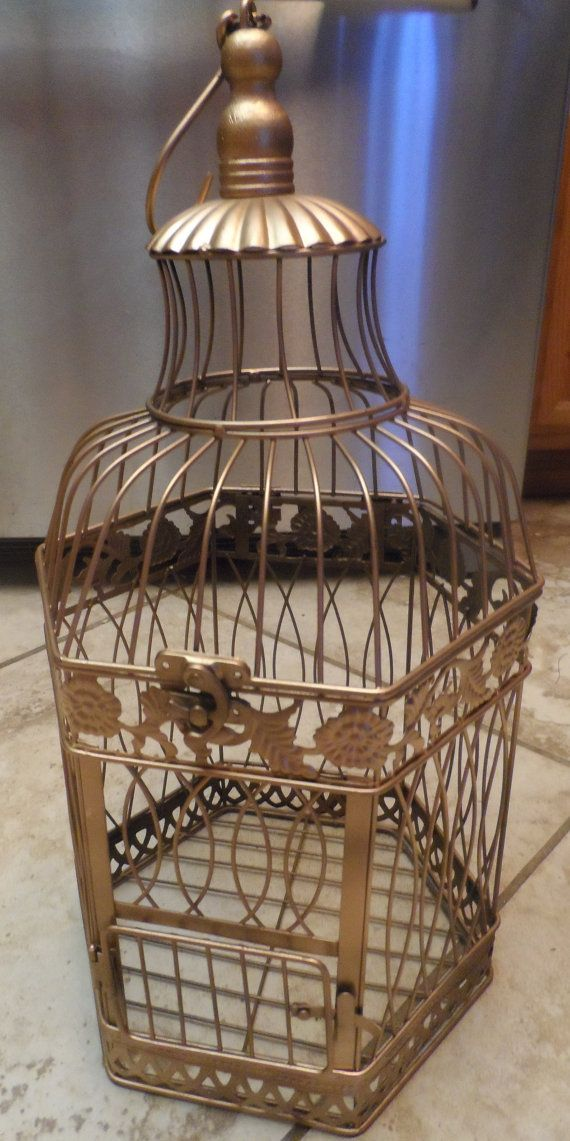 Gold Vintage Style Bird Cage
