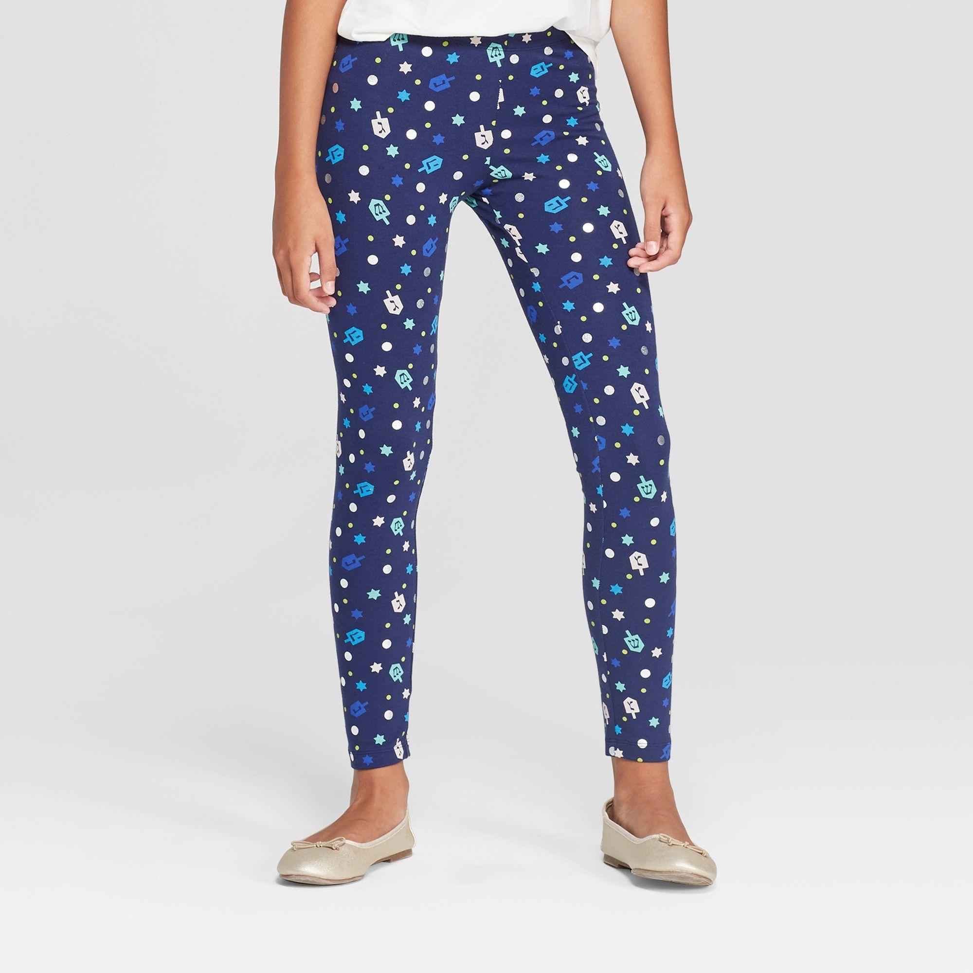 6c860a105 Girls' Hanukkah Leggings - Cat & Jack Navy XS, Blue | Products ...