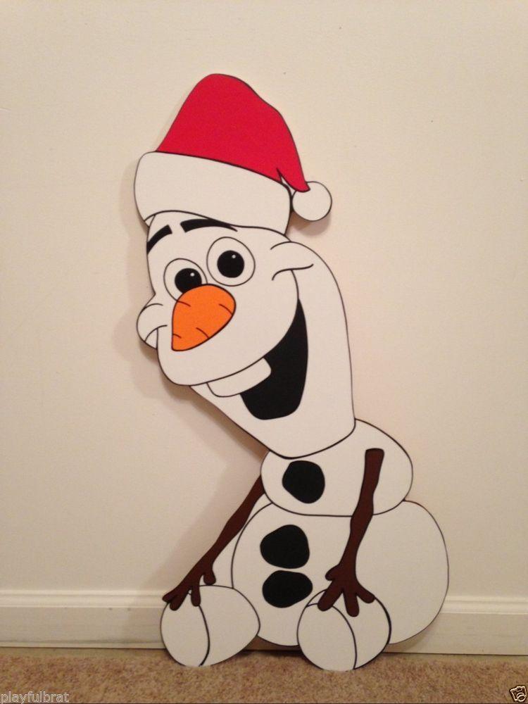 Olaf frozen christmas yard art decoration 2 Frozen christmas - disney christmas yard decorations