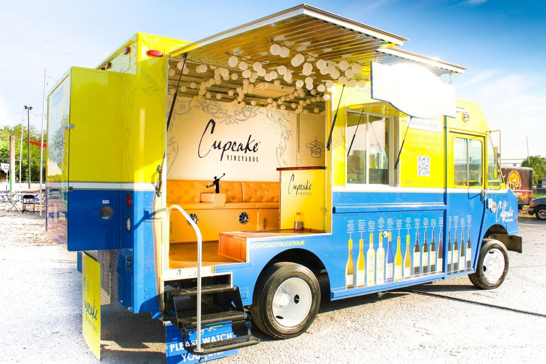 Cupcake Vineyards Food Truck built by Cruising Kitchens